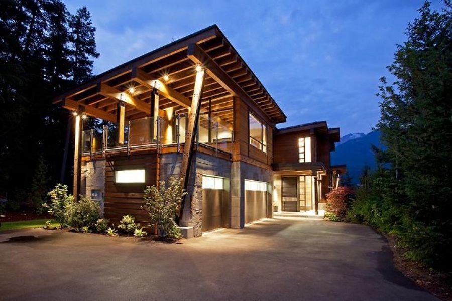 Деревянный дом из клееных плит CLT