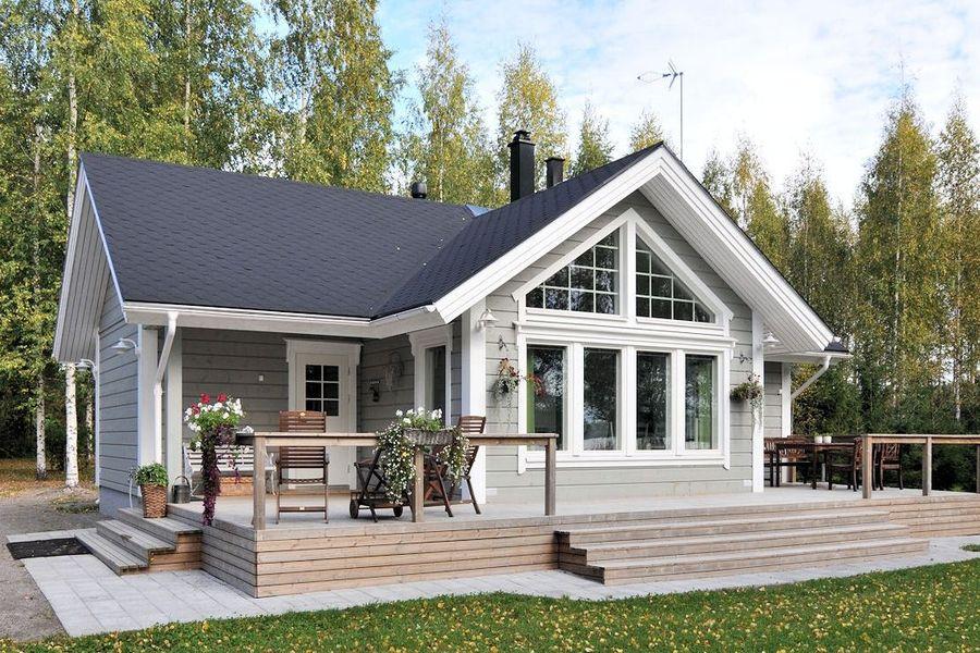 дом из финского бруса фото море
